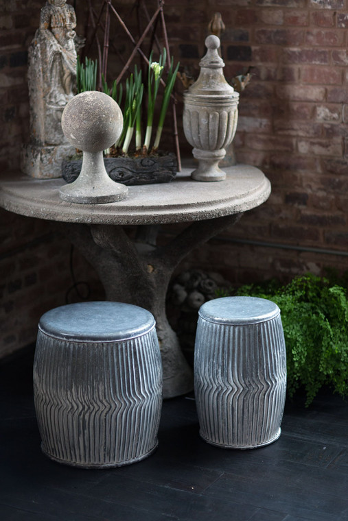 Galvanized Dolly Seats/Planters