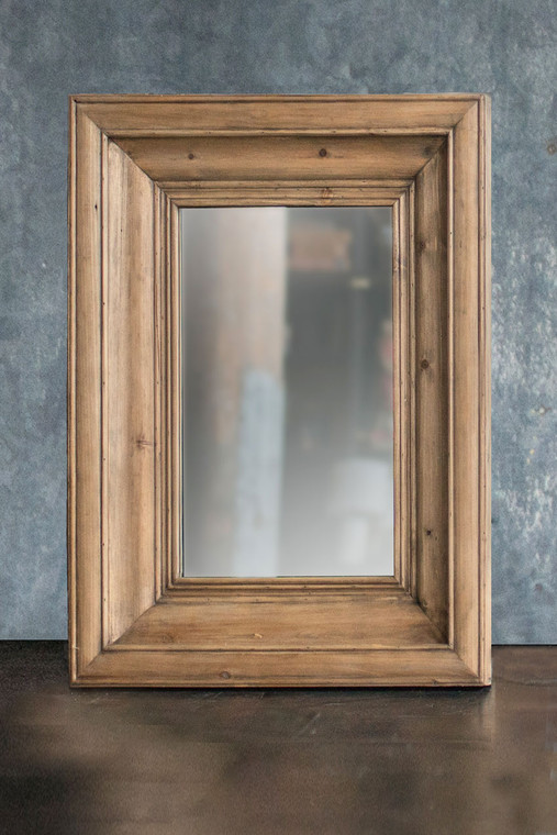 Rectangle Pine Frame Mirror - Small