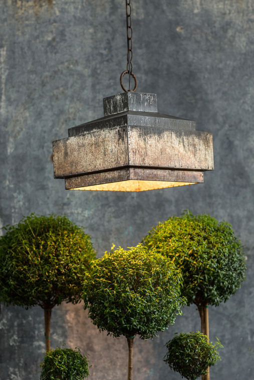 Industrial Pyramid Pendant Lamp
