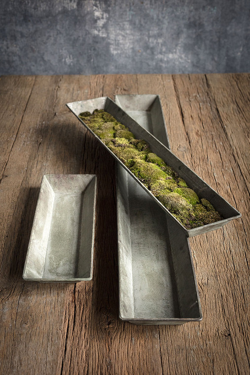 Metal and Copper Finish Trays - Set of 3