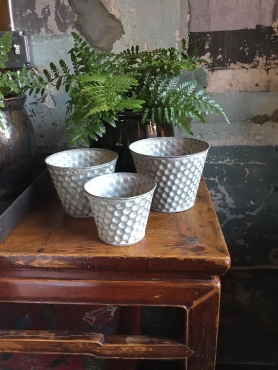 Honeycomb Pattern Pots - Set of Three