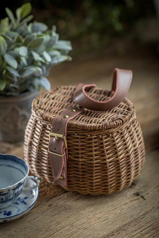 Small Wicker Fishing Basket