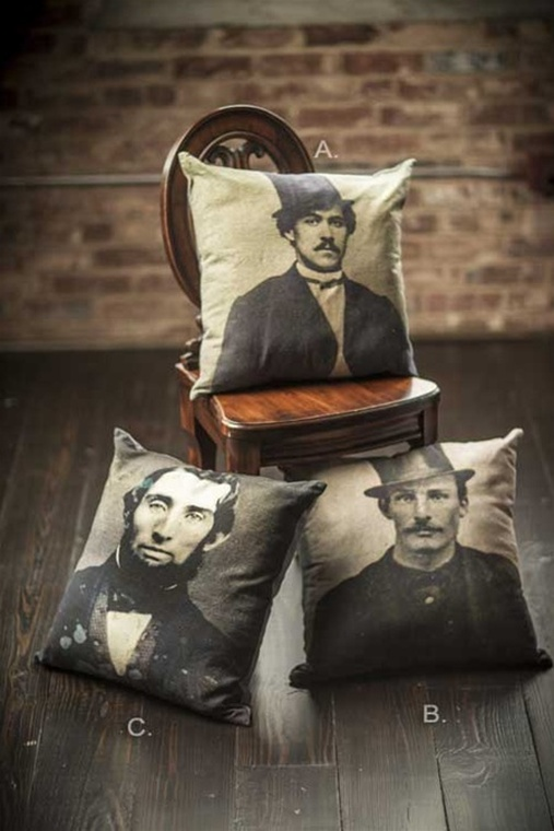 Man Printed Throw Pillow Cover