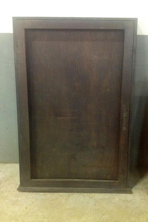 Vintage Dark Wood Rifle Display Cabinet