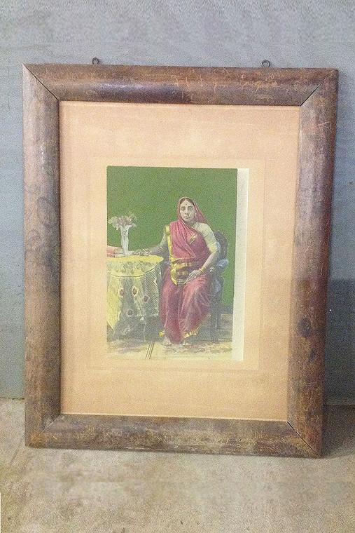 Vintage Framed Print of a Hindu Woman