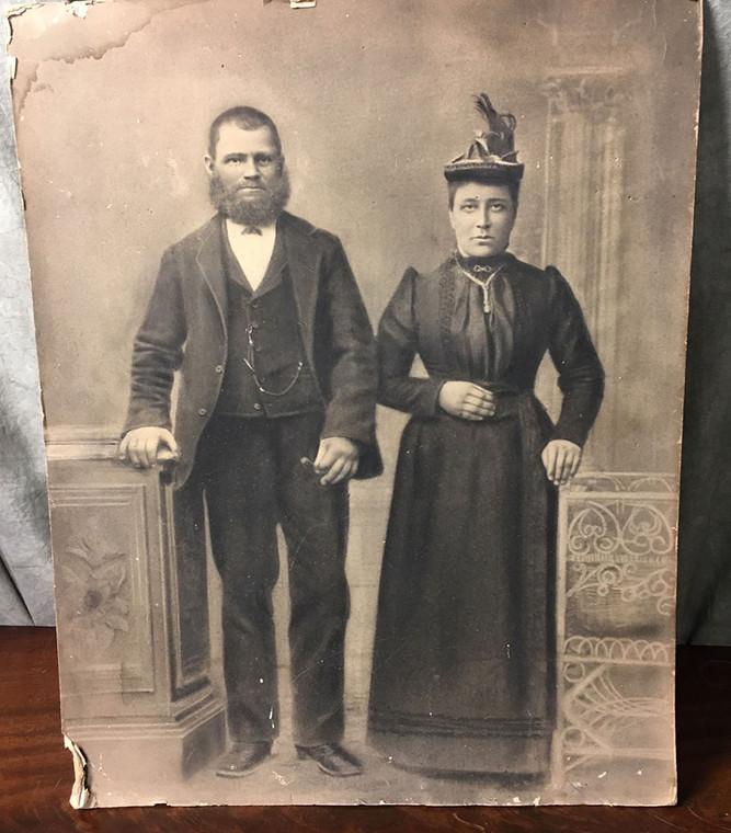 Old Unframed Black and White Portrait