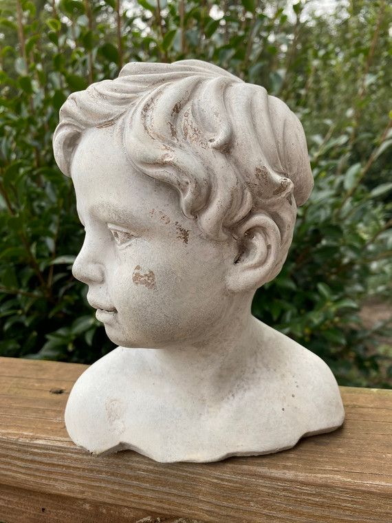 Cement Boy Statue