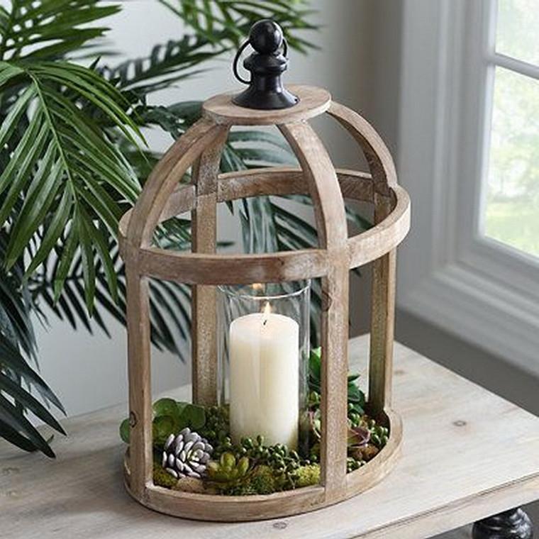 Oval Wooden Lantern