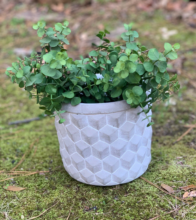 Medium Geometric Cement Planter