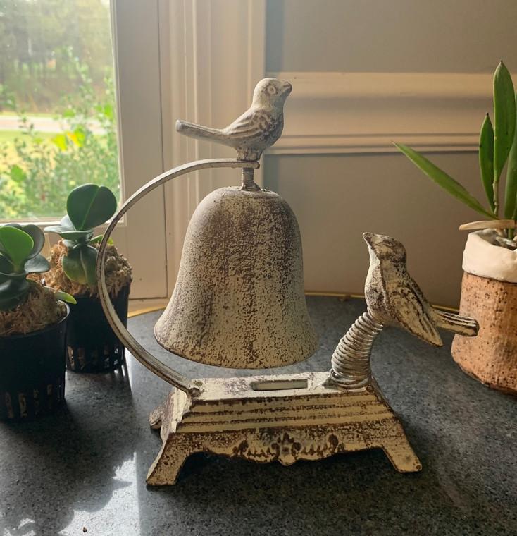 Cast Iron Bird Bell