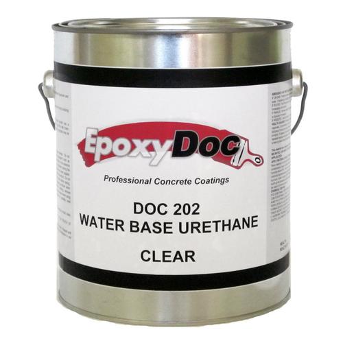 EpoxyDoc water base urethane.   Works great in basements, warehouses, garages, autobays, walkways, and storage units.