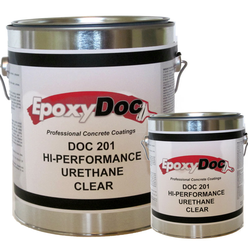 EpoxyDoc 70% solids urethane.   Works as a top coat for concrete, epoxies, overlays, and other cementitious substrates