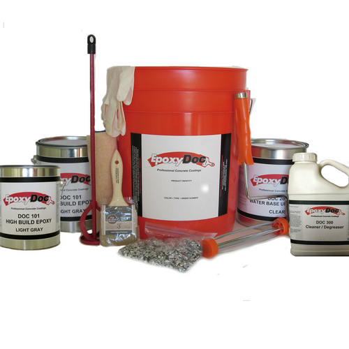 Full size epoxy kit enough to install 500 square feet of garage flooring.
