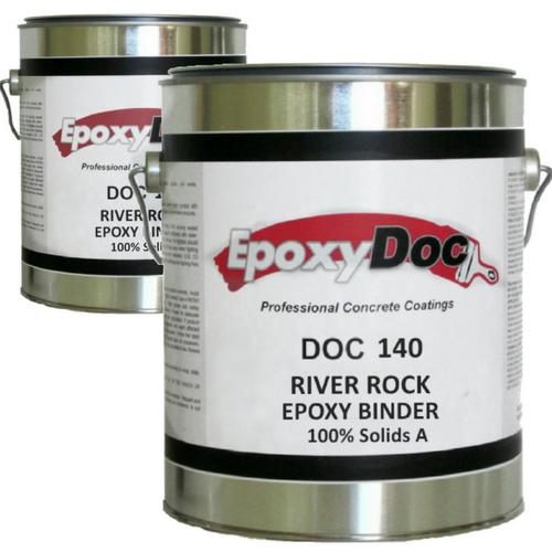 Epoxy river rock binder.  Bind large aggregate to create beautiful rock carpet floors