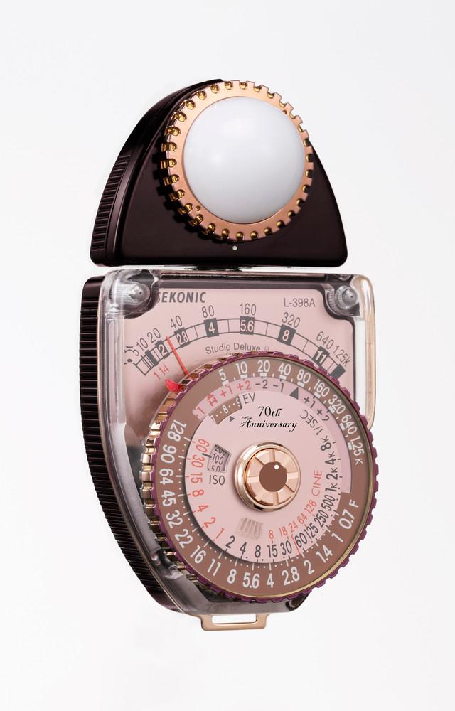 Sekonic 70th Anniversary Edition, L-398A STUDIO DELUXE III Analog Light Meter
