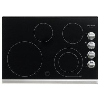 "Frigidaire Gallery 30"" Stainless Black Electric Smoothtop Cooktop FGEC3045PS"