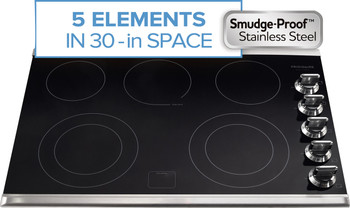 "Frigidaire Gallery 30"" Stainless Steel Smoothtop Electric Cooktop FGEC3067MS"
