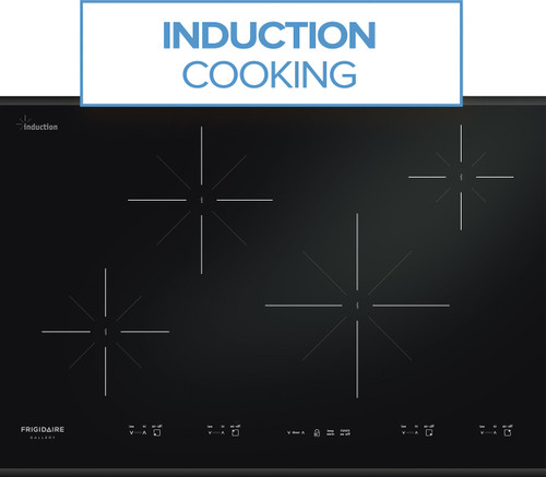 """Frigidaire Gallery 30"""" Black Induction Cooktop with Express-Select Controls FGIC3067MB"""