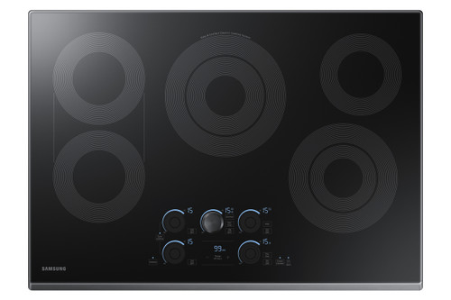 """Samsung 30"""" Black Stainless Steel Electric Smoothtop Cooktop  with Wi-Fi Connectivity NZ30K7570RG"""