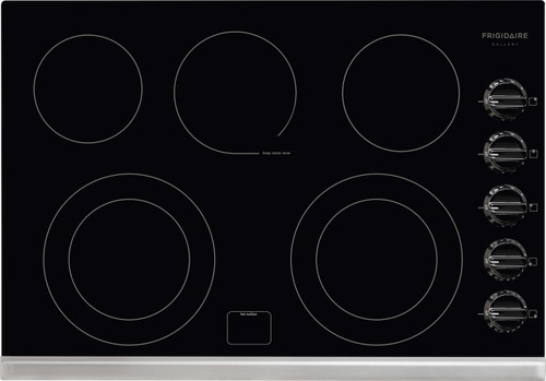 """Frigidaire Gallery 30"""" Black Electric Smoothtop Cooktop FGEC3067MB"""
