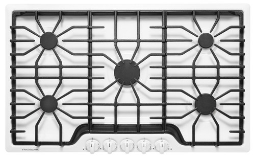 "Frigidaire 36"" White 5 Sealed Burner Gas Cooktop FFGC3626SW"