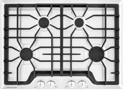 "Frigidaire Gallery 30"" 4 Sealed Burners White Gas Cooktop FGGC3045QW"