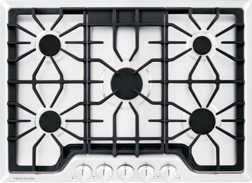 "Frigidaire Gallery 30"" 5 Sealed Burners White Gas Cooktop FGGC3047QW"