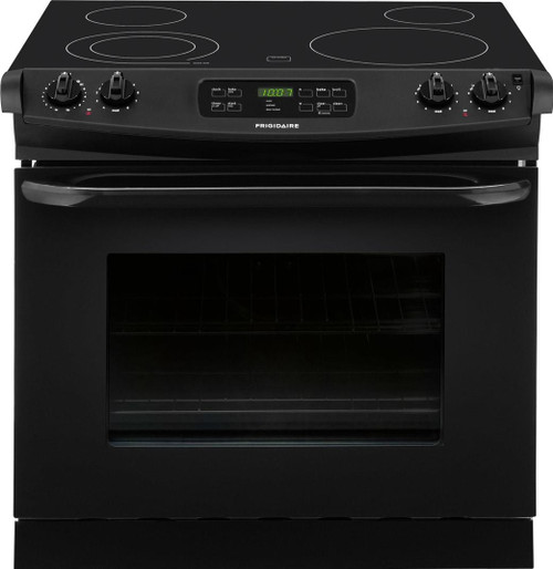 "Frigidaire 30"" Drop-In Electric Smoothtop 4.6 Cu. Ft. Black Range FFED3025PB"