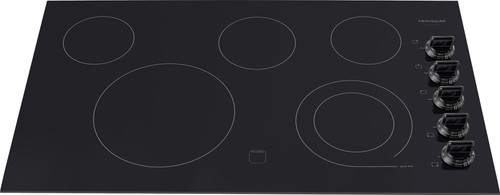 """Frigidaire Gallery 36"""" Black Electric Smoothtop 5 Element Cooktop FGEC3645KB"""