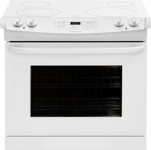 Frigidaire 30 Inch 4.6 Cu. Ft. Oven Drop-In Electric Range with Smoothtop Cooktop FFED3025PW