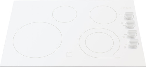 """Frigidaire Gallery 30"""" White Electric Stovetop Cooktop FGEC3045KW"""