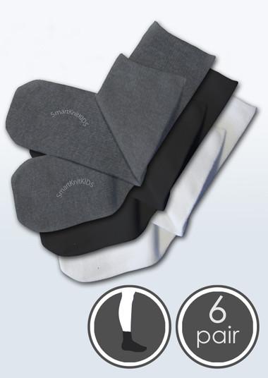 Kids Seamless Sensitivity Socks - 6 Pack