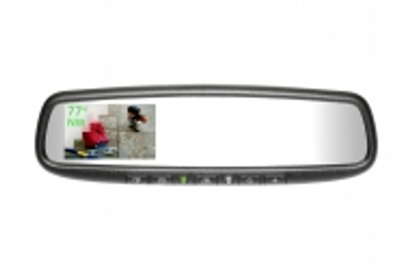 "50-GENK3350S Gentex Auto-Dimming Rearview Mirror w/ 3.3"" Rear Camera Display, Compass, Temperature & HomeLink"