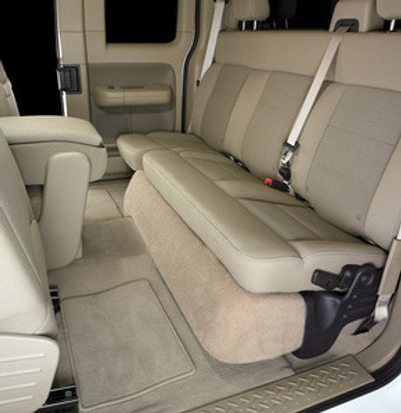 SB-F-F1502/10W3v3/BK: Stealthbox® for 2004-2014 Ford F-150 SuperCab, 2004-2008 SuperCrew & 2006-2008 Lincoln Mark LT with Black (leather) interior SKU # 94370