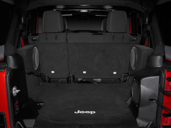 SB-J-WRUD/10TW1/DG (DRIVER): Stealthbox® for 2007-Up Jeep Wrangler Unlimited with Gray Trunk (Driver Side) SKU # 94608