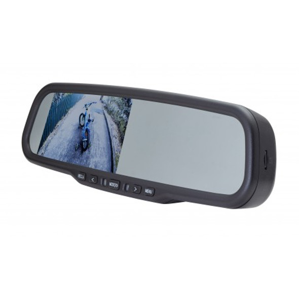 "4.3"" FACTORY MOUNT MIRROR MONITOR WITH BUILT-IN DVR"