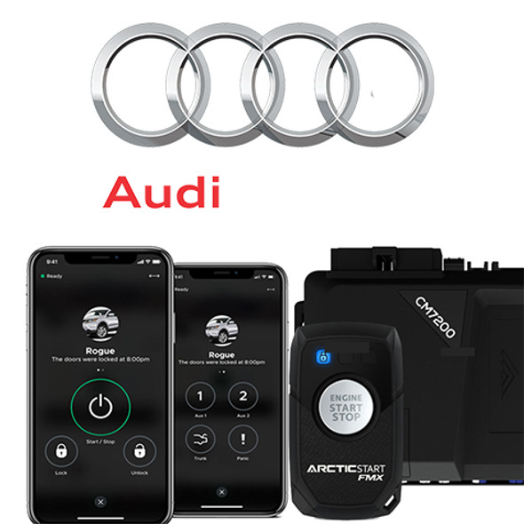 2-Way Audi Remote Remote Start With Keyless Entry* - Price Includes Standard Installation and specialty Audi Control Module