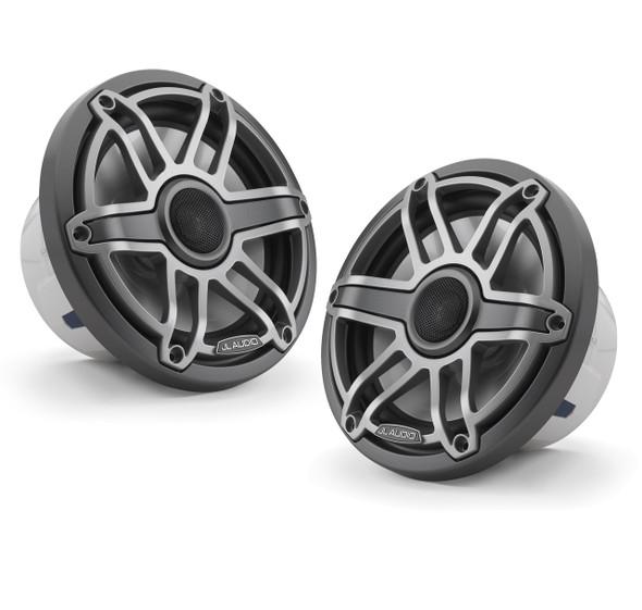 JL Audio 7.7-Inch M6 Marine Coaxial Speaker System, Gunmetal & Titanium, Sport Grille, M6-770X-S-GmTi