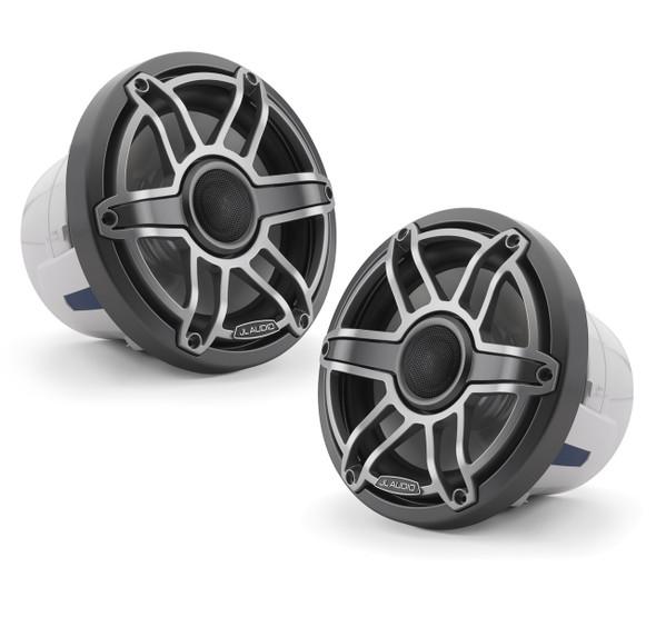JL Audio 8.8-Inch M6 Marine Coaxial Speaker System, Gunmetal & Titanium, Sport Grille, M6-880X-S-GmTi