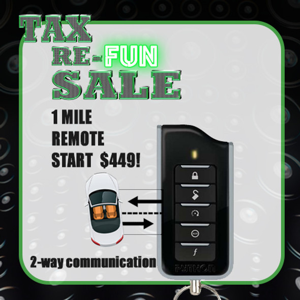 2-Way Remote Start, 4 Button, LED Remote Start ,Lock, Unlock, Basic Installation