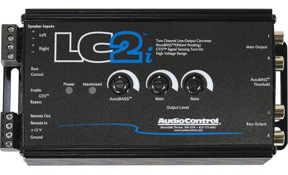 AudioControl LC2iB 2-channel line output converter for adding amps to your factory system (Black)