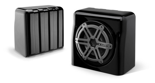 JL Audio FS110-W5-SG-TB: Single M10W5, Fiberglass Sealed Enclosure, Titanium Sport Grille, 4 Ω