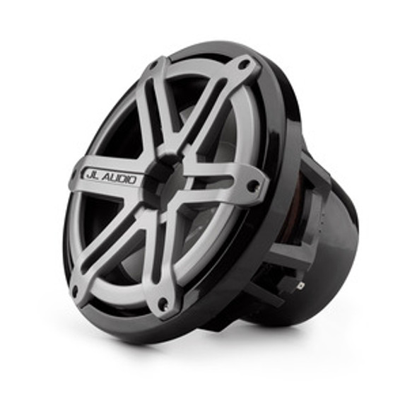 JL Audio M10W5-SG-TB: 10-inch (250 mm) Marine Subwoofer Driver, Titanium Sport Grille, 4 Ω