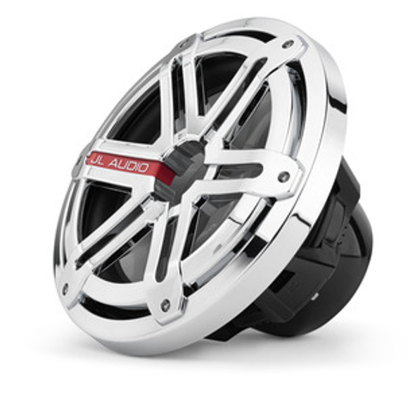JL Audio MX10IB3-SG-CR: 10-inch (250 mm) Marine Subwoofer Driver, Chrome Sport Grille, 4 Ω