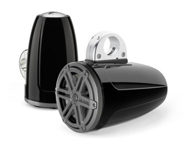 JL Audio MX770-ETXv3-SG-TB: 7.7-inch (196 mm) Enclosed Tower Coaxial System, Black Gel-Coat, Titanium Sport Grilles