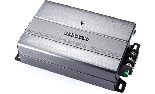 Kenwood  KAC-M3001 Compact mono subwoofer amplifier — 300 watts RMS x 1 at 2 ohms