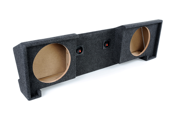 Atrend A102-10CP Carpeted BBox Series 10-Inch Dual Down-Fire Subwoofer Box for 1988-1998 GM Extended Cabs