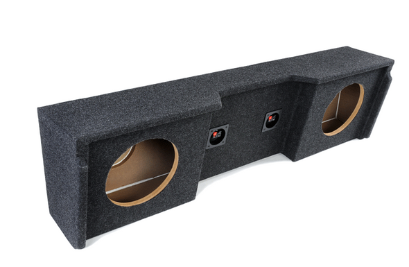 """Atrend A152-12CP Dual 12"""" Carpeted Finish Vehicle Specific Enclosure for GM Extended Cab vehicle years between 1999-2007"""