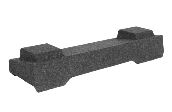 """Atrend A164-10CP Dual 10"""" Carpeted Subwoofer Enclosure for Light Duty 2003-2007 Chevy Silverado and GMC Sierra Crew Cab Trucks"""