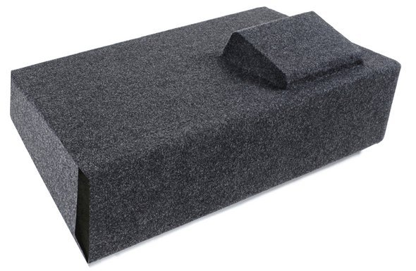 """Atrend A181-12CPV Single 12"""" Vented Carpeted Subwoofer Enclosure for 2007-2013 Chevy Silverado and GMC Sierra HD Crew Cab Trucks"""
